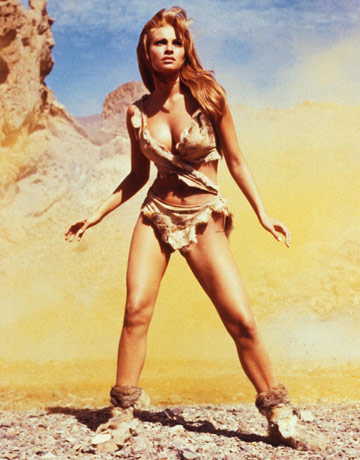"Raquel Welch in a promotional photograph for ""One Million Years B.C."