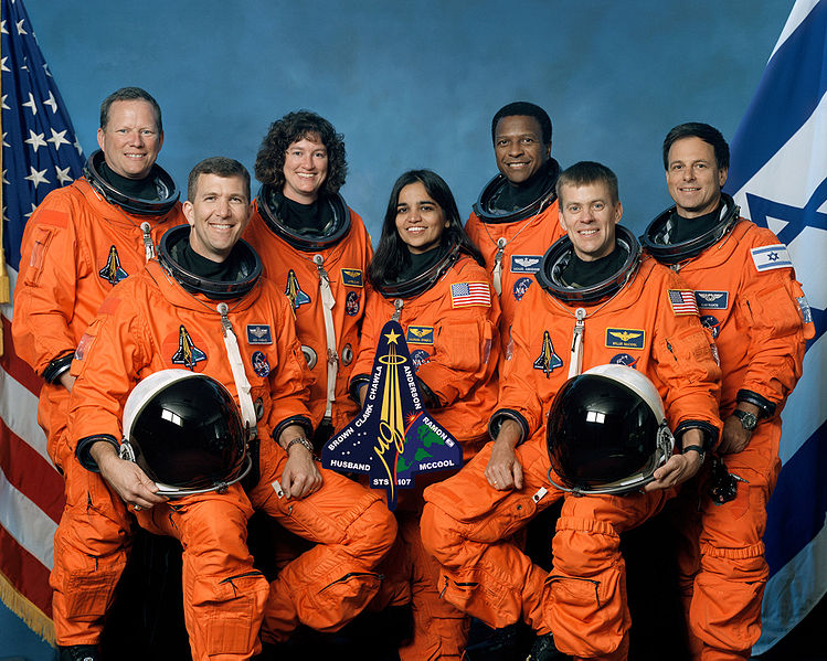 The seven crew members who died aboard the Columbus were: Rick Husband, Commander; William C. McCool, Pilot; Michael P. Anderson, Payload Commander; David M. Brown, Mission Specialist 1; Kalpana Chawla, Mission Specialist 2; Laurel Clark, Mission Specialist 4; and Ilan Ramon, Payload Specialist 1.